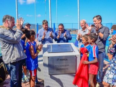 Inaugurado complexo esportivo do Caxito